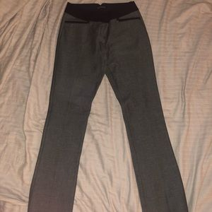 Express Dress pants; dark gray with black trimming